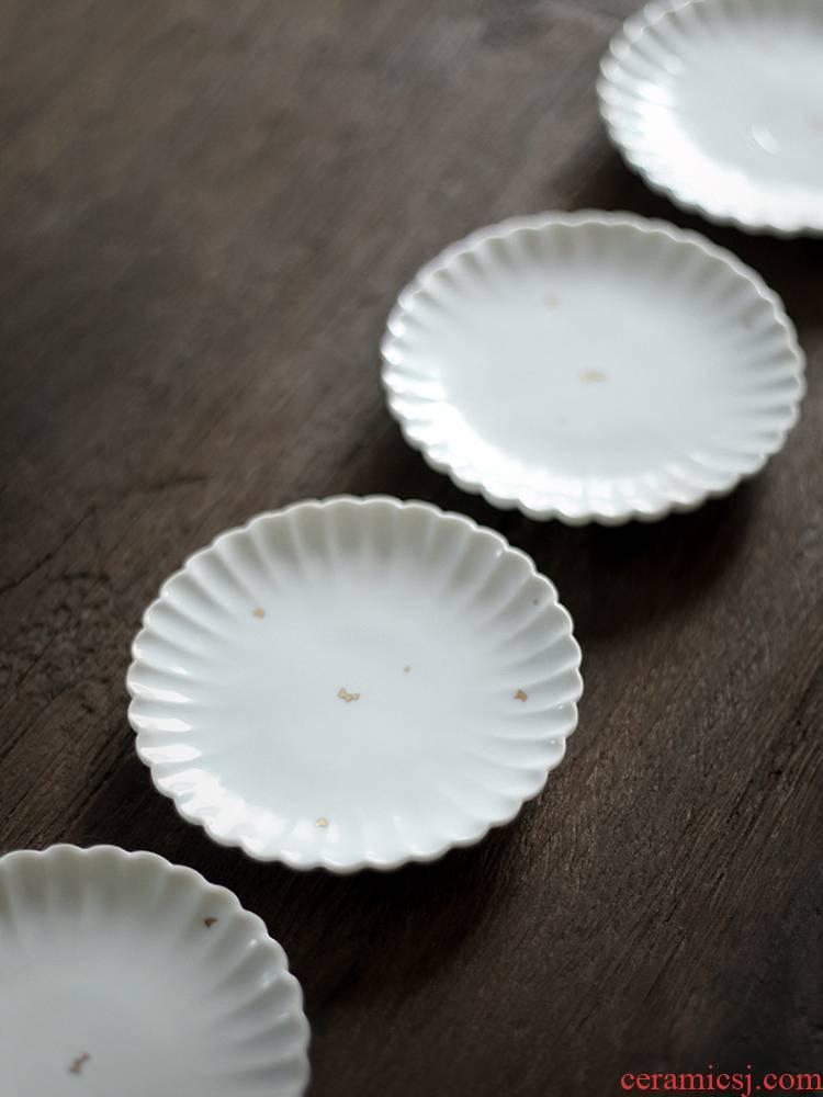 About Nine soil Japanese lace sample tea cup mat tea cup saucer ceramic saucer zen kung fu tea set with parts restoring ancient ways