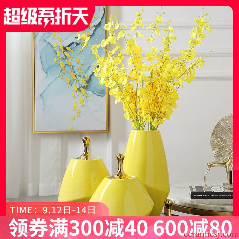 Ceramic vase furnishing articles of I and contracted rural style guest table small porcelain of fresh flower arrangement bedroom decoration accessories