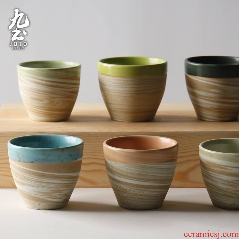 About Nine soil jingdezhen ceramic household mini glass hand Japanese tea master cup move with a cup of coffee cup