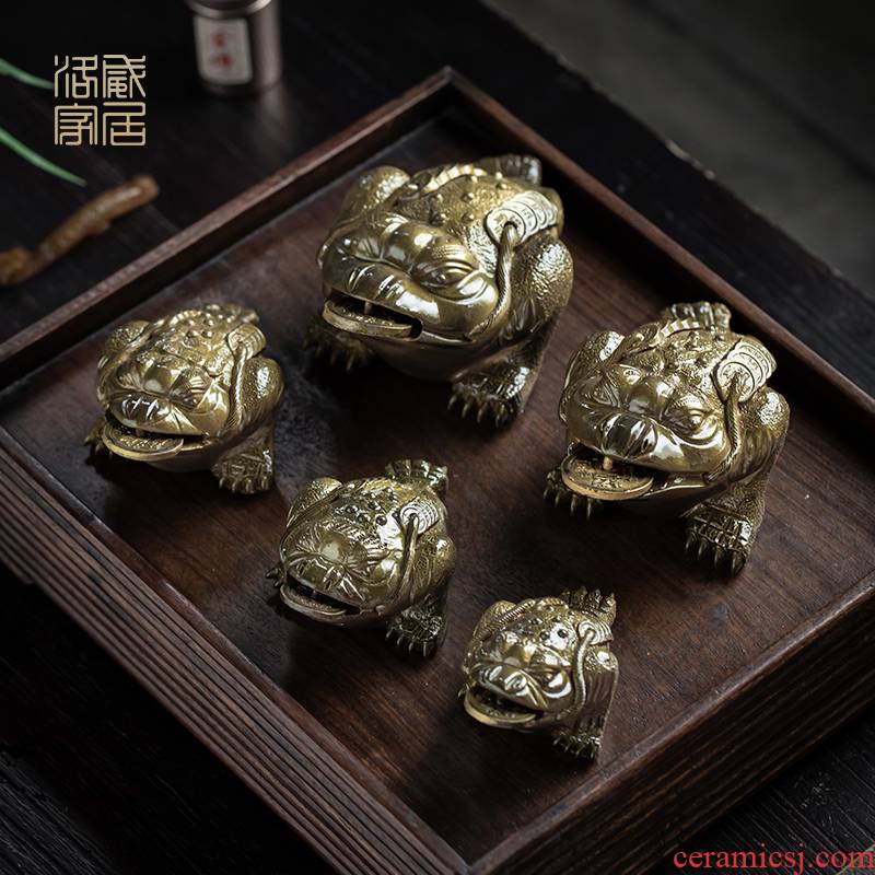 Purple sand tea pets can have three fine toad tea furnishing articles boutique creative accessories tea table color pet toad