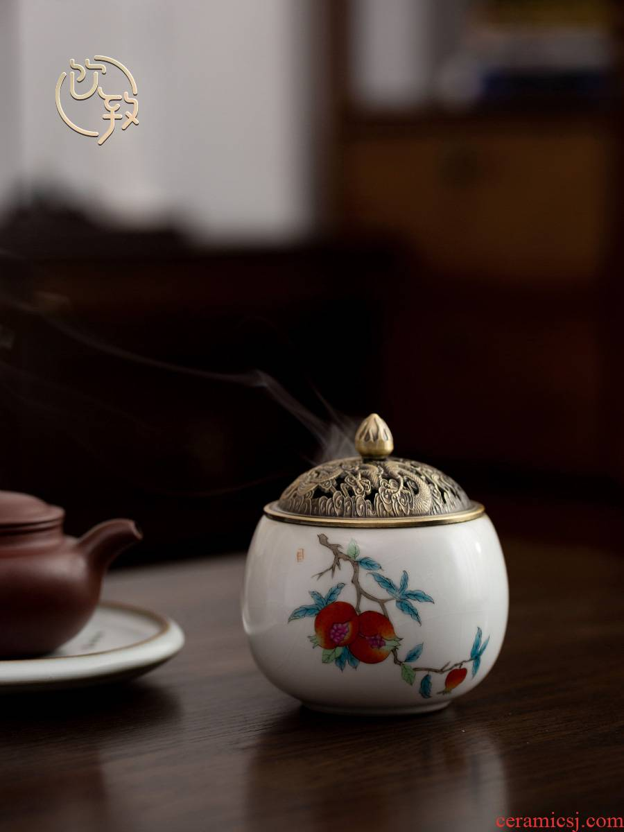Ultimately responds tea incense buner to household indoor antique aloes sandalwood incense coil to furnishing articles ceramic incense zen your up