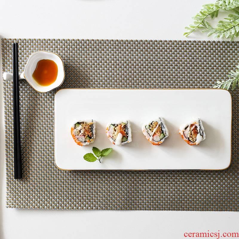Ceramic plate beefsteak up phnom penh dish cake ins rectangle longed for stowe square Japanese sushi sashimi dish