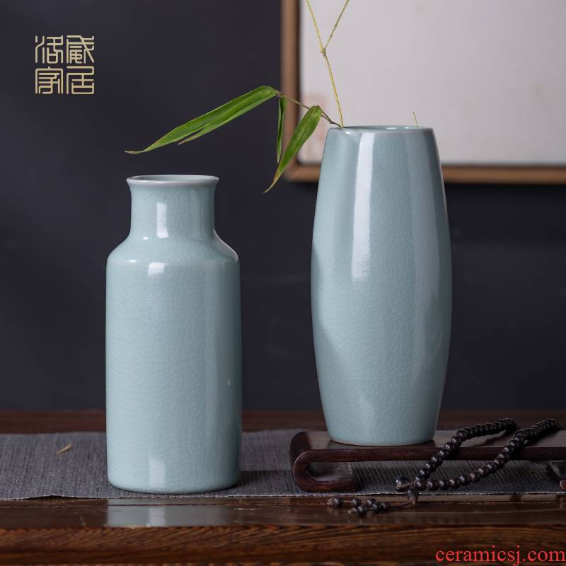 Your up open piece of tea table for its ehrs vase decoration day cyan porcelain I and contracted fine home tea accessories
