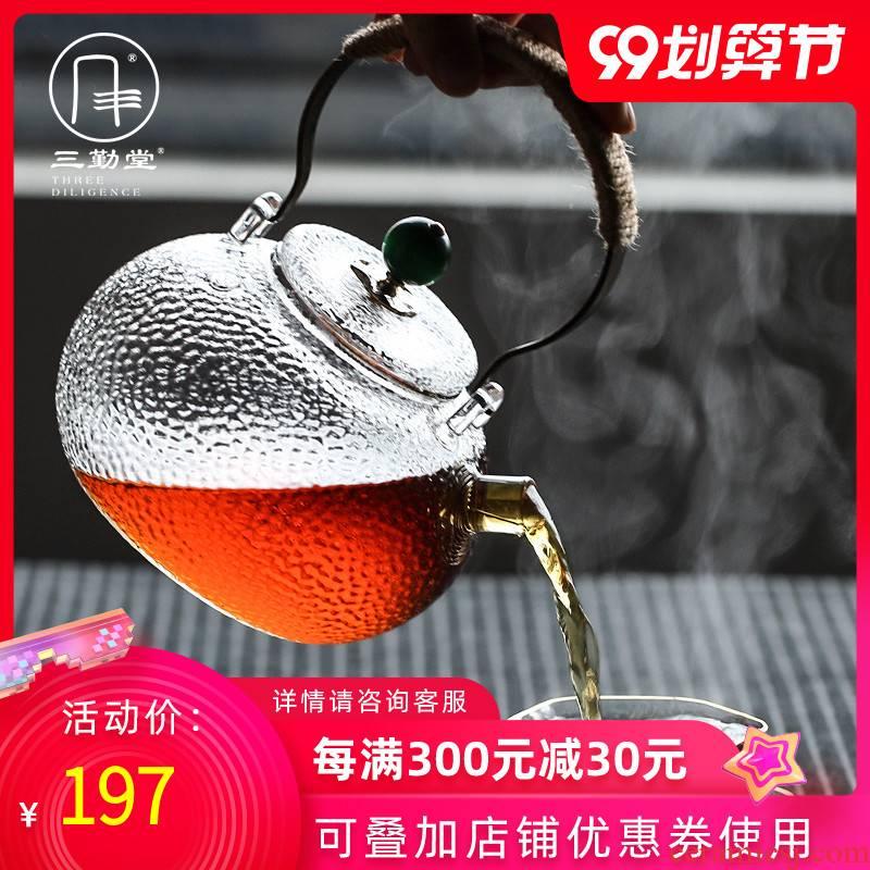 The three regular glass teapot pot large kung fu tea set electric hammer girder TaoLu tea stove'm S25010 kettle