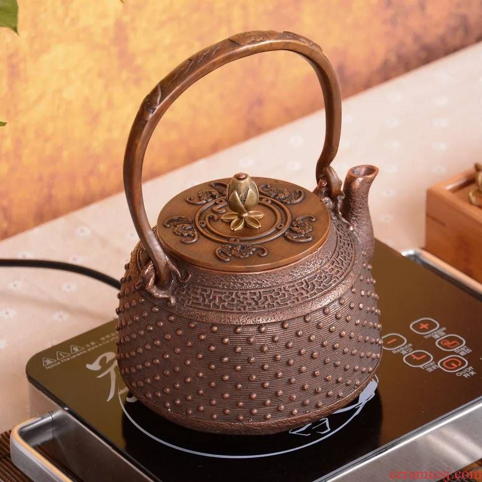 The ancient copper pot sheng up with pure manual electric kettle domestic copper pot TaoLu cooking pot Japanese teapot with a suit
