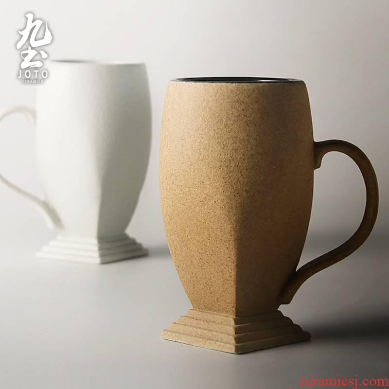 About Nine soil mark cup whimsy ceramic creative manual custom trophy cup cup move picking cups of coffee cup