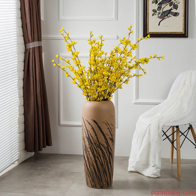 Gagarin ceramic vase landed large flower arranging restoring ancient ways suit I and contracted sitting room decorate American furnishing articles