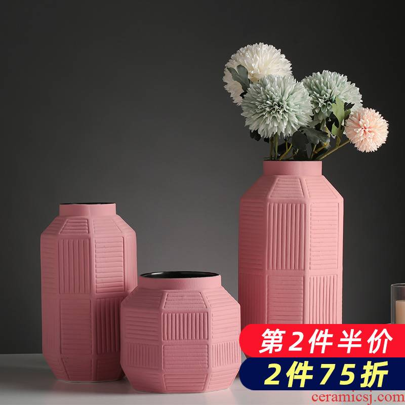 Vases, ceramic creative dry flower arranging flowers hydroponics contracted household TV ark, act the role ofing is tasted furnishing articles sitting room decorate the table