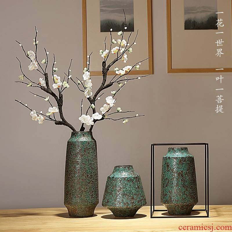 Jingdezhen ceramics vase now contracted sitting room porch decoration of the new Chinese style furnishing articles dried flowers flower arrangement suits for