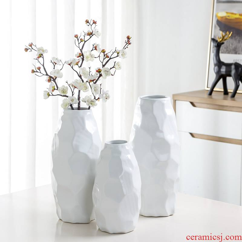 Jingdezhen ceramic vase furnishing articles Nordic dry flower flower arranging modern creative contracted sitting room table decoration decoration