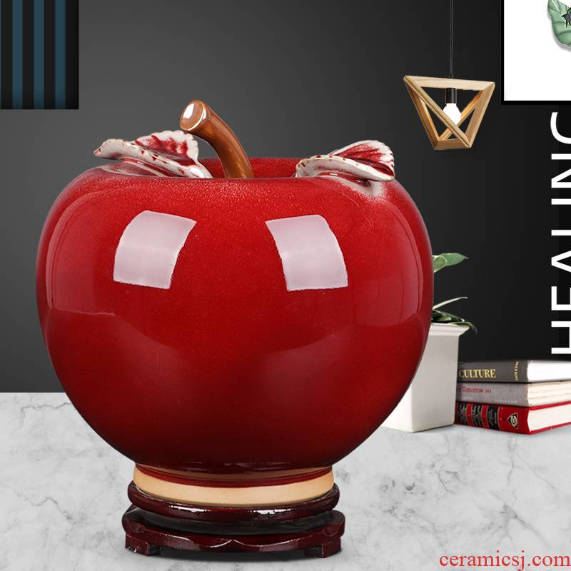 Ceramics creative apple furnishing articles sitting room