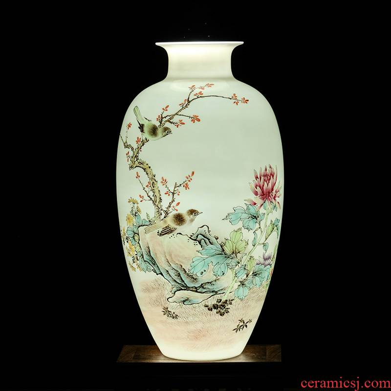 The Master of jingdezhen ceramics hand - made powder enamel bottles of Chinese style living room TV ark, flower arranging porch is decorated furnishing articles