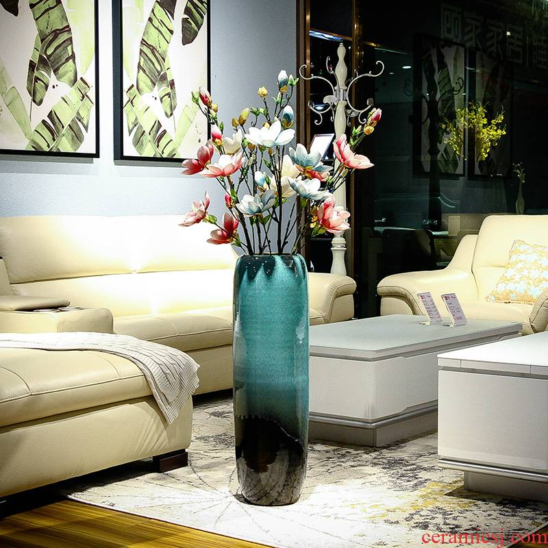 Jingdezhen ceramic vase landing a large sitting room of Chinese style household decorative furnishing articles I and contracted porch is plugged into the vase