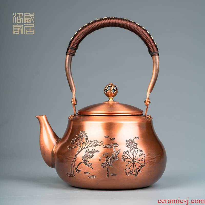 Lotus in more plates to boil the kettle manual kettle household electrical TaoLu high - temperature teapot large - capacity single pot