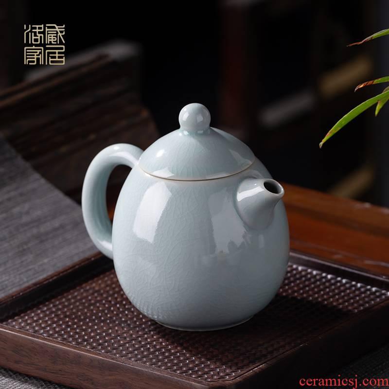 Your up with jingdezhen ceramic teapot small household single pot teapot kung fu tea set Your porcelain pot on manual dragon dense eggs