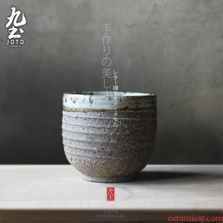 About Nine coarse pottery soil sample tea cup cup by hand small creative vintage Japanese zen cup a cup of water glass glass kung fu