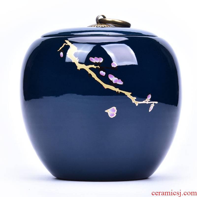 Shadow enjoy Japanese ceramic tea pot home moistureproof large seal pot puer tea pot of kung fu tea tea accessories