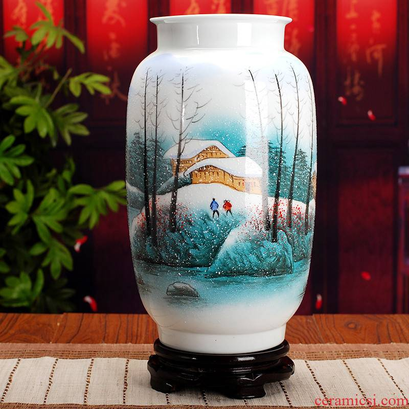 Large collection of famous jingdezhen ceramic vase 397 hand - made powder enamel vase home furnishing articles