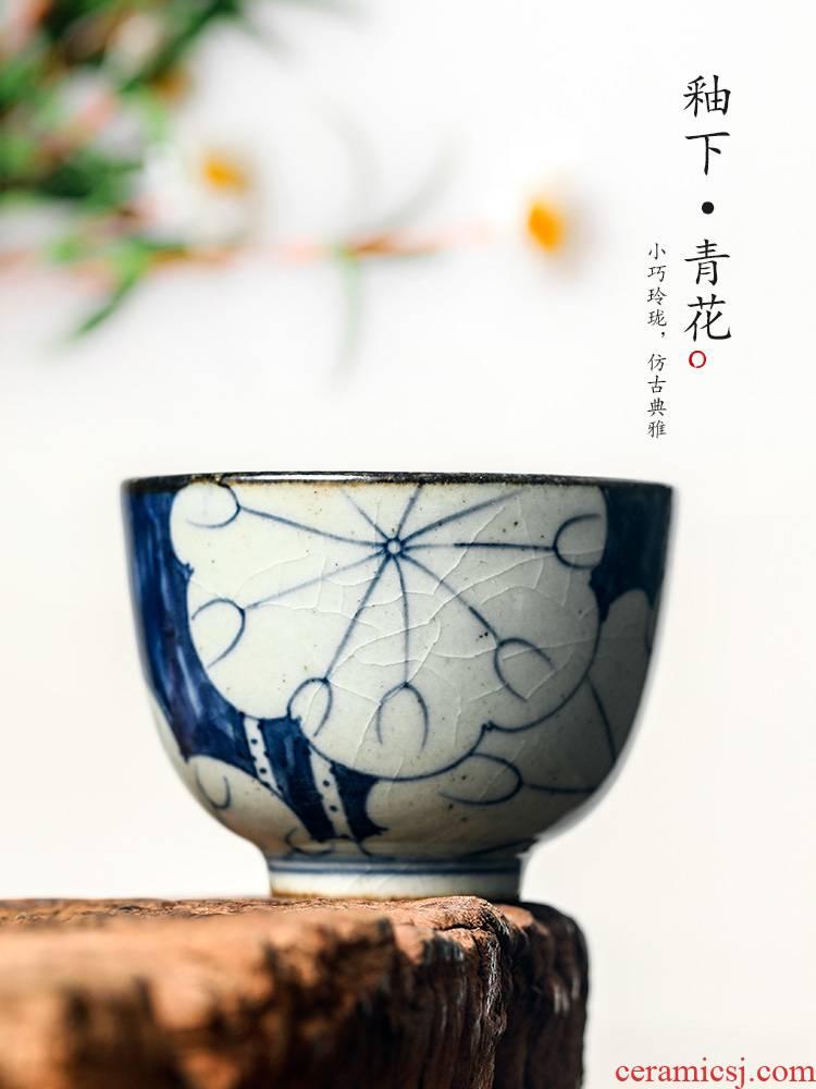 Jingdezhen porcelain cup sample tea cup archaize ceramic masters cup but small teacups hand - made lotus kunfu tea tea set