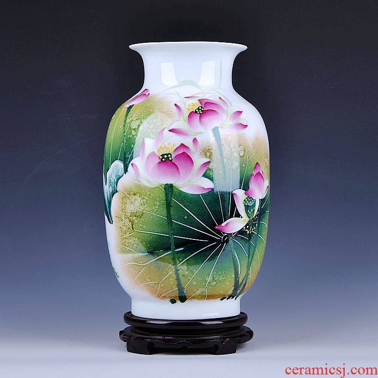King 's famous masterpieces of jingdezhen ceramics hand - made hu lotus vase I and fashionable adornment furnishing articles