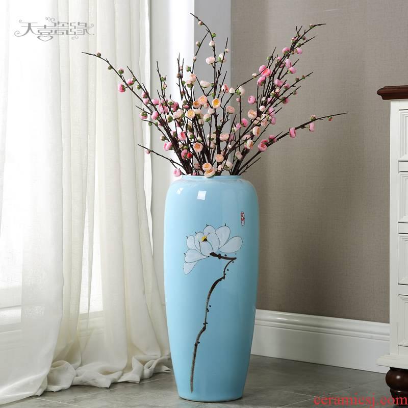 Jingdezhen ceramic vase of large modern creative living room home of dry flower arranging TV ark adornment furnishing articles