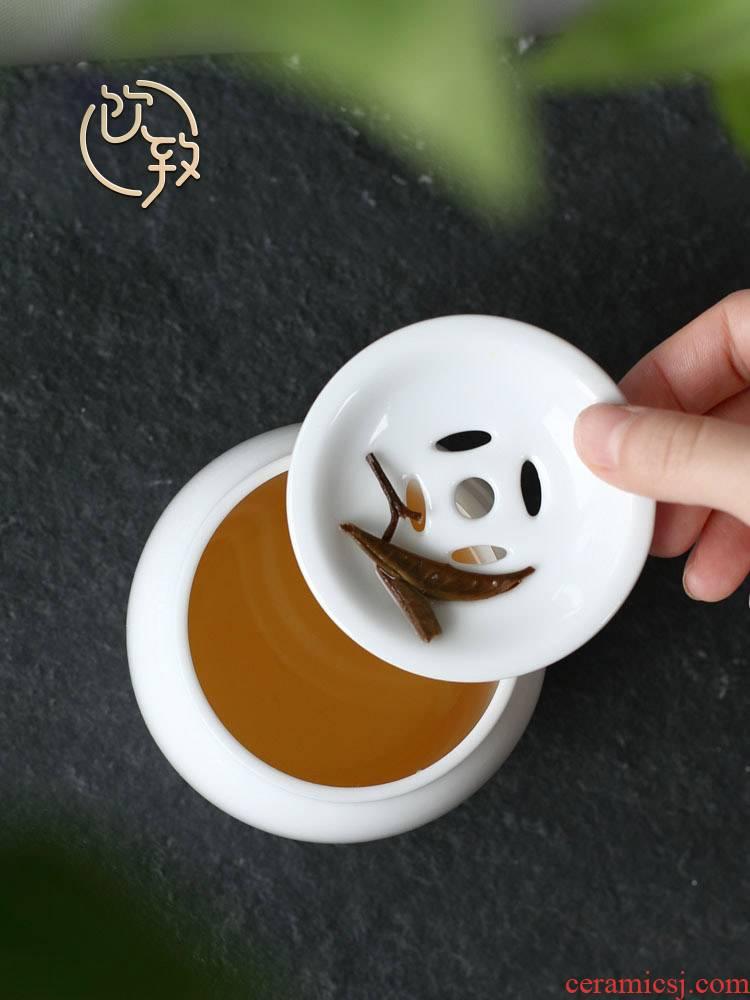 Drinking water jar to white porcelain dross barrels of zen zone on Japanese small tea wash water household pot type kung fu tea tea taking