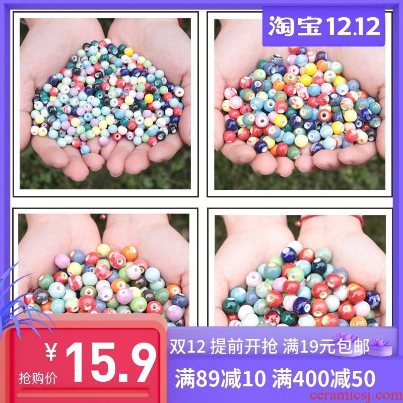 1 catty ceramic beads goody bag beaded bracelet necklace diy materials student kindergarten children 's day knot arts class scattered beads