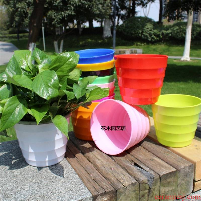 Nonporous plastic flower POTS melamine imitation ceramic flower pot thickening watertight gifts with other water environmental protection, no smell