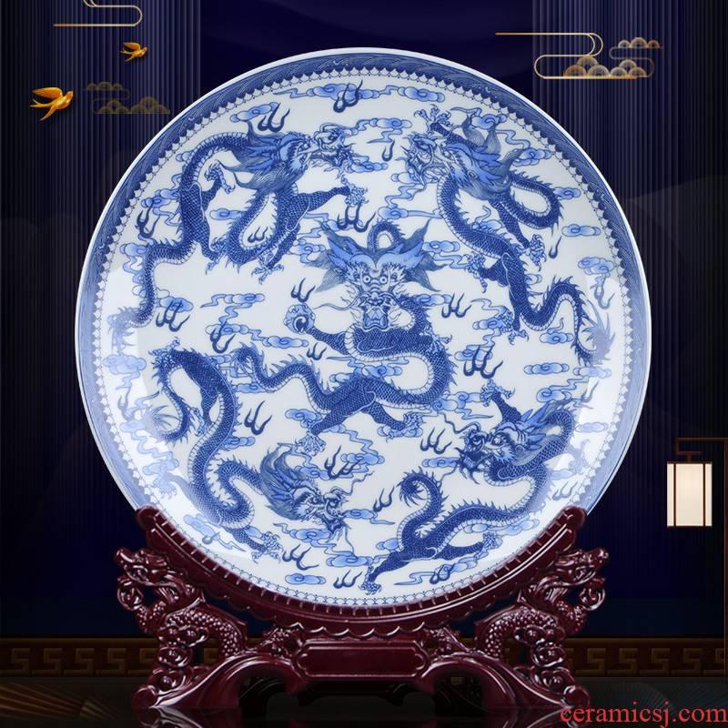 Ten inches dragon ceramics decoration plate