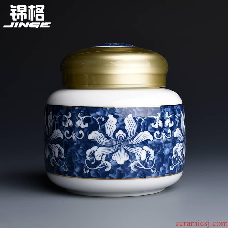 Shadow at jingdezhen ceramic tea pot home large sealed tank, general storage tanks, small portable pu - erh tea