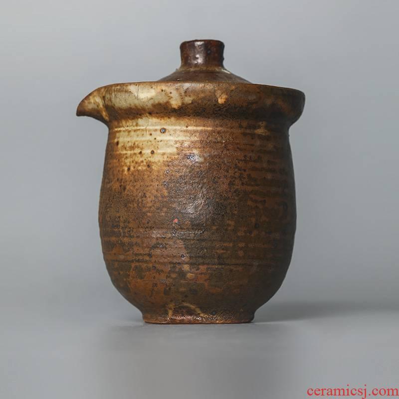 Pure manual hand grasp the teapot lid to use hot large jingdezhen tea; Preventer clay kunfu tea tea set household restoring ancient ways