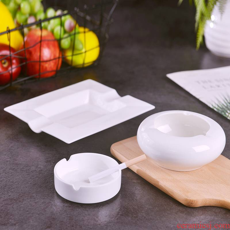 Jingdezhen ceramics hotel home office club restaurant large creative ashtray pure white ipads porcelain ashtrays