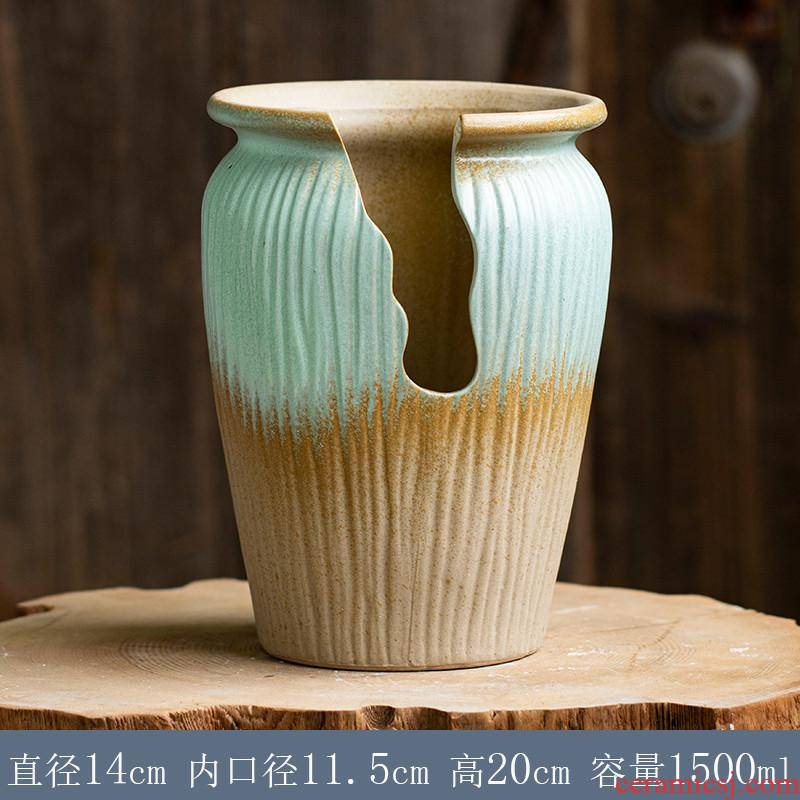 Large fleshy flower - pot incision creative shape TaoWei landscape basin of the old running more meat meat meat the plants flower pot ceramics