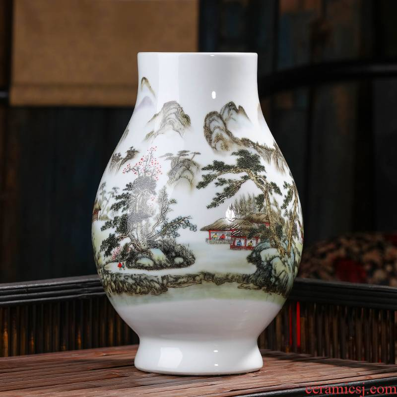 Jingdezhen big vase expressions using wide ceramic flower arranging water raise household TV ark, place of the sitting room porch decoration