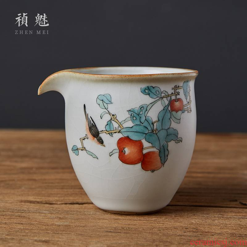 Shot incarnate your up hand - made open piece of jingdezhen ceramic fair keller kung fu tea tea tea accessories points