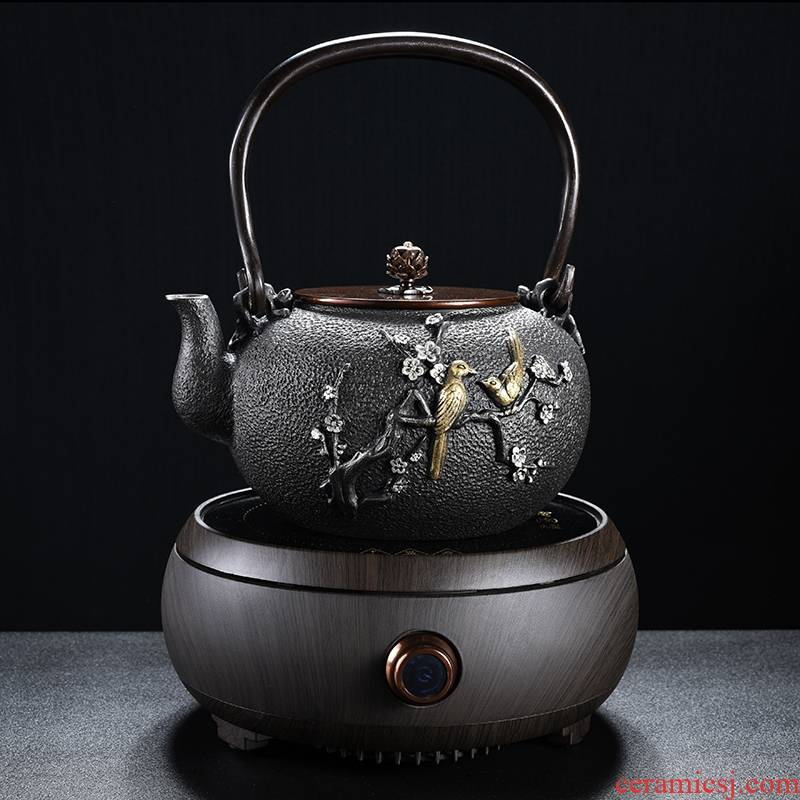 Qiao mu boiled tea machine manual cast iron teapot home tea boiled tea stove'm imitation Japan electric TaoLu suits for