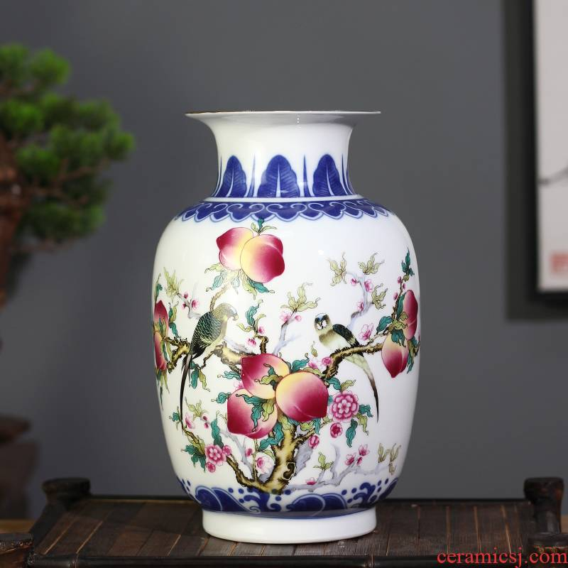 See Colour porcelain dou jingdezhen ceramic vases, flower arranging floret bottle sitting room mesa penjing collection gifts