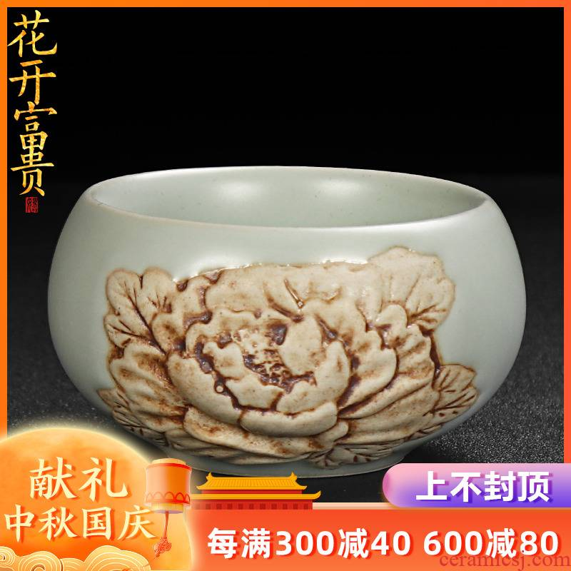 Artisan fairy your up sample tea cup checking ceramic household start restoring ancient ways can raise large porcelain master cup single CPU