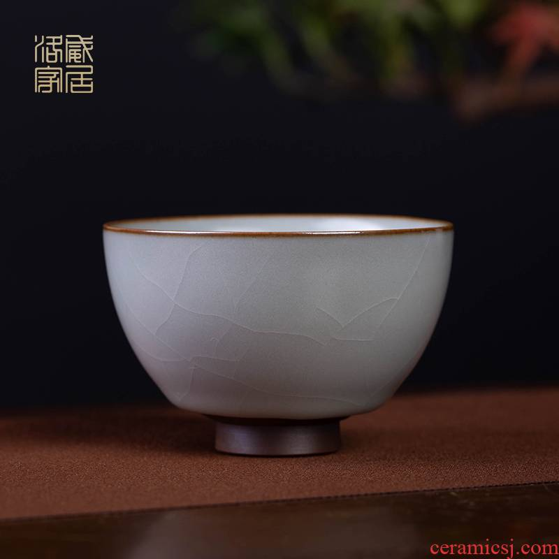Ru up market metrix who cup sample tea cup jingdezhen ceramic tea set on the can raise individual high - end kung fu tea cups, small single CPU