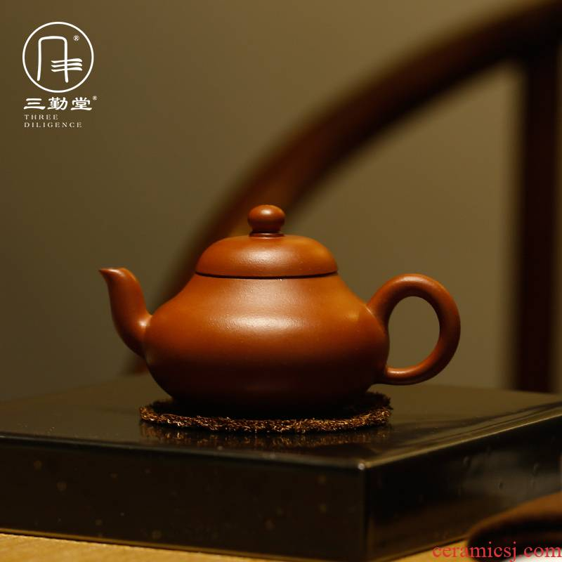 The three frequently pear - shaped it yixing, jiangsu famous hand made tea classic new it a pot of tea