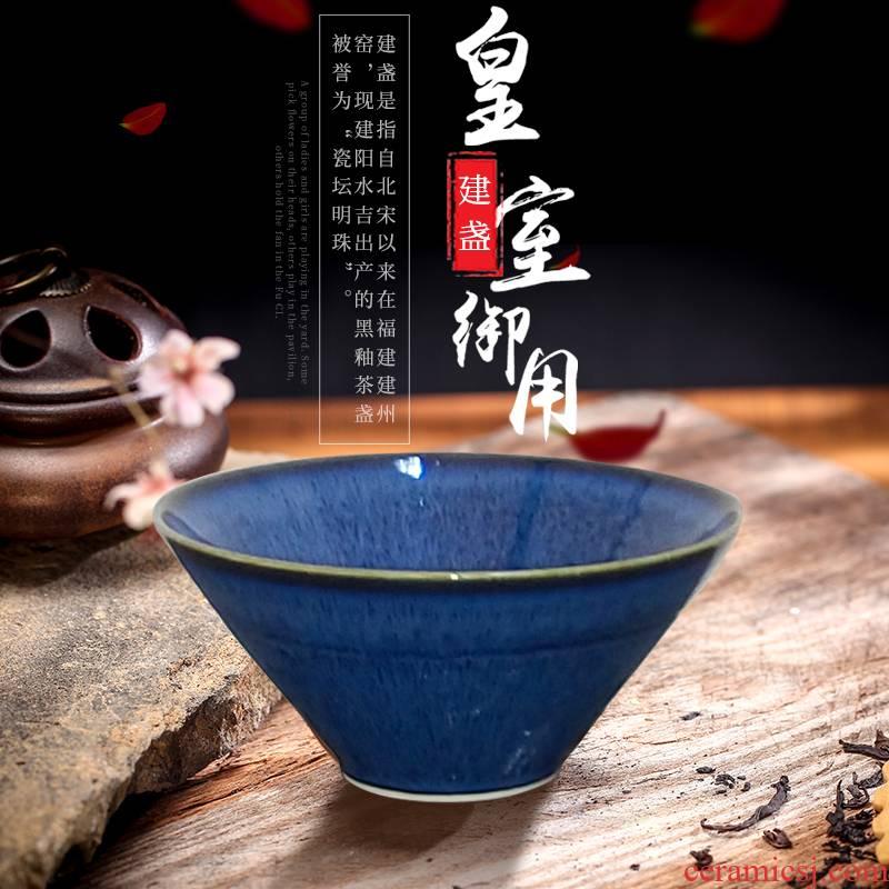Jian temmoku lamp cup lamp that jingdezhen kung fu tea tea set ceramic bowl masters cup single glass furnishing articles