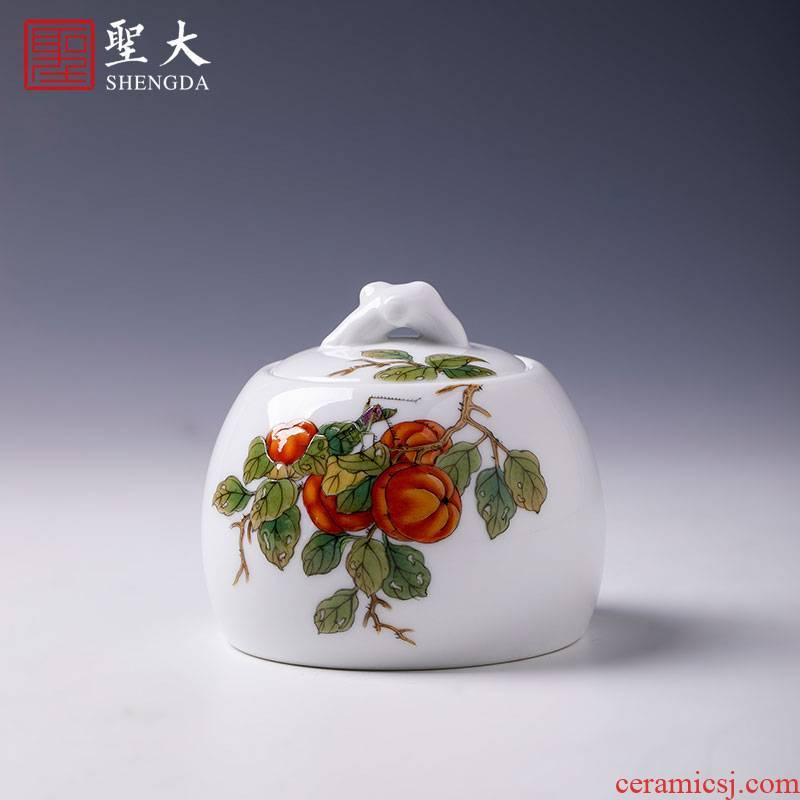 The big hand colored enamel ceramic tea pot all The best tank receives all hand jingdezhen tea service