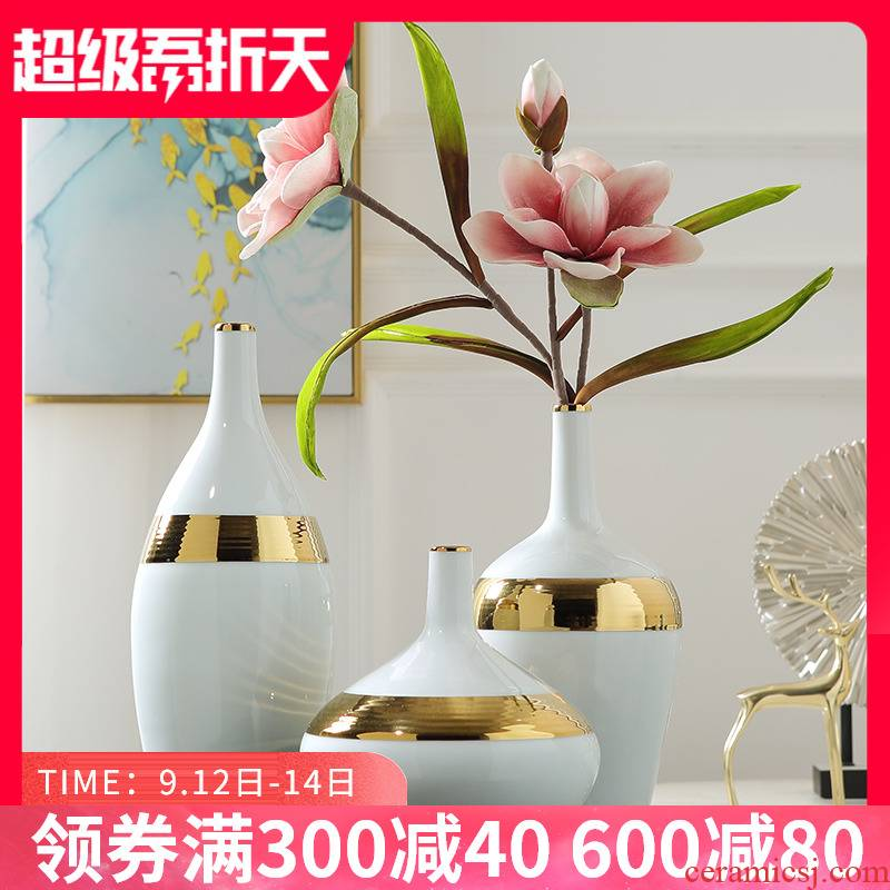 I and contracted ceramic vase Nordic light key-2 luxury furnishing articles sitting room TV cabinet table desktop flower arrangement home decoration