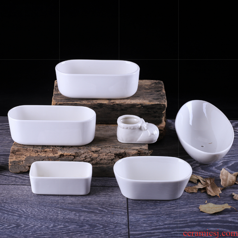 Various type mini square long creative strip contracted type control point more meat pot luck faceplate flowerpot ceramics