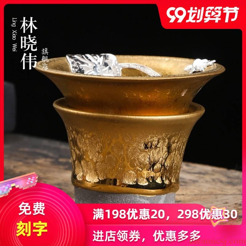 Build light silver ceramic slip through kung fu tea tea tea tea strainer filter tea accessories make tea is tea