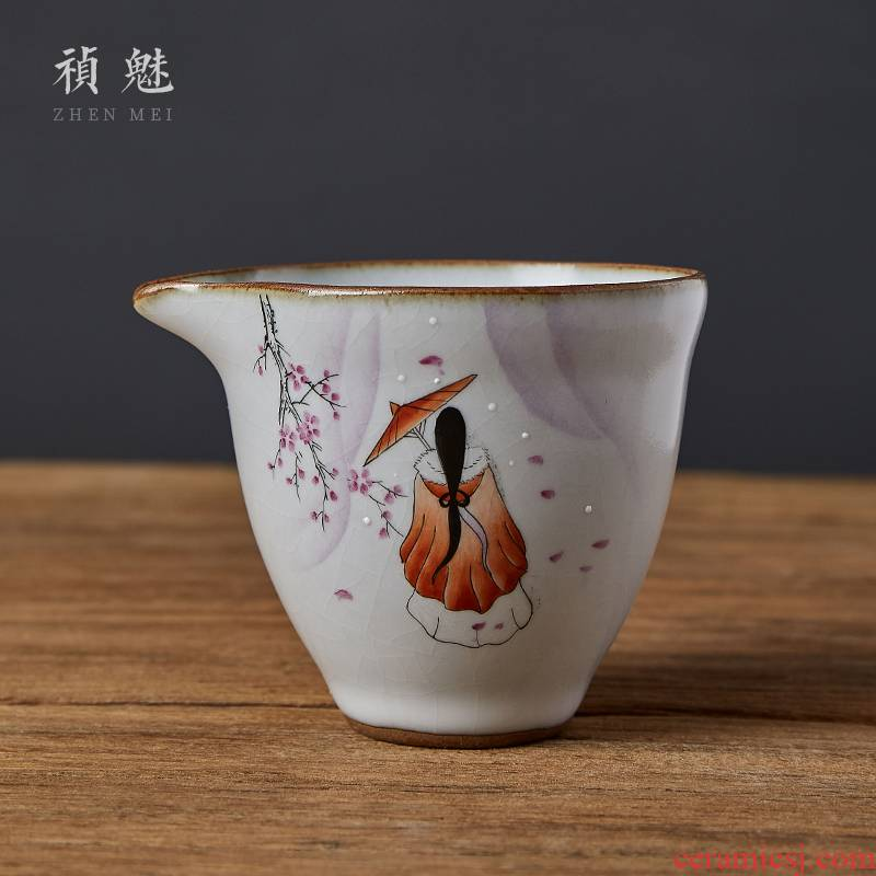 Open the slice shot incarnate your up with jingdezhen ceramic fair keller kung fu tea tea, head points of tea, tea accessories