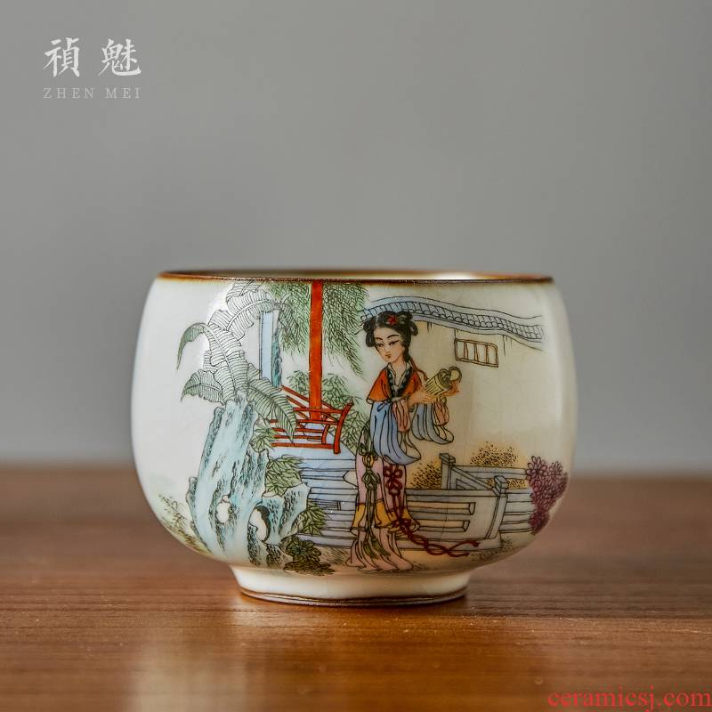 Shot incarnate your up hand - made production master cup kung fu tea set personal open piece of jingdezhen ceramics can be use a tea cup