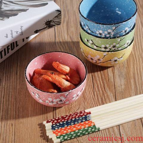 The kitchen gifts chopsticks ceramic tableware Japanese household eat rice bowl gift boxes promotions feed