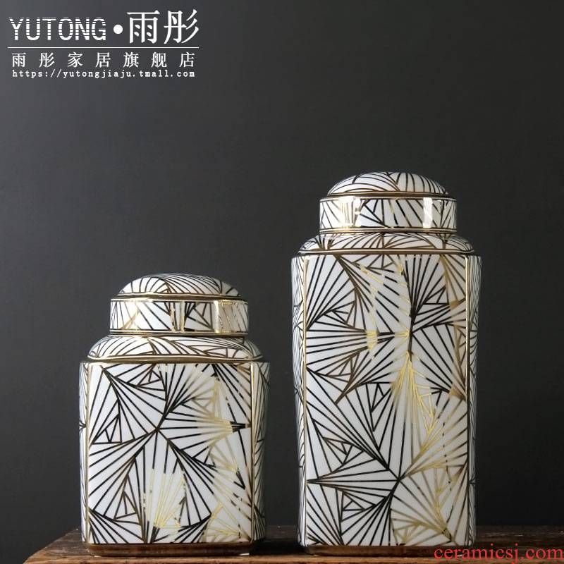The sitting room porch wine ark of tea table decoration furnishing articles artical rural creative soft adornment ceramics storage tank