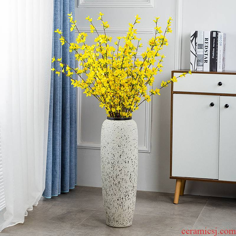Landing a large ceramic vases, dried flower adornment place to live in the sitting room porch I and contracted Europe type creative flower arrangement